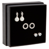 Snö of Sweden Gift Ear Set Astrid Silver/Clear