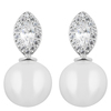 Snö of Sweden Gracie Small Short Earring Silver/White