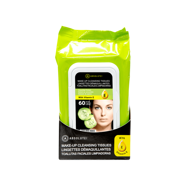 Absolute New York Make-Up Cleansing Tissues Cucumber Extract 60stk