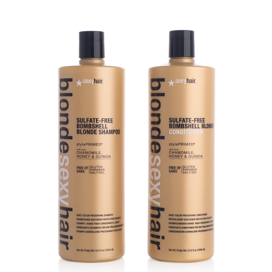 Blonde Sexy Hair Shampoo Og Balsam 2 x 1000 ml (Duo)