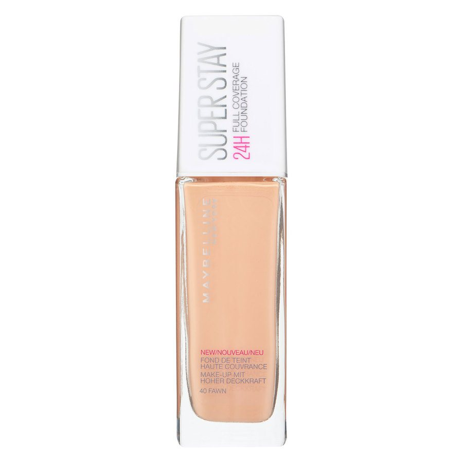 Maybelline Super Stay 24h Full Coverage Foundation, 40 Fawn (30 ml)