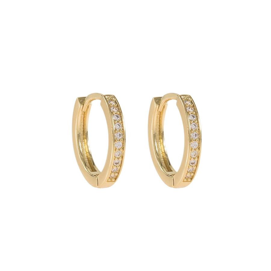 Snö Of Sweden Elaine Small Ring Earring Gold/Clear 14mm
