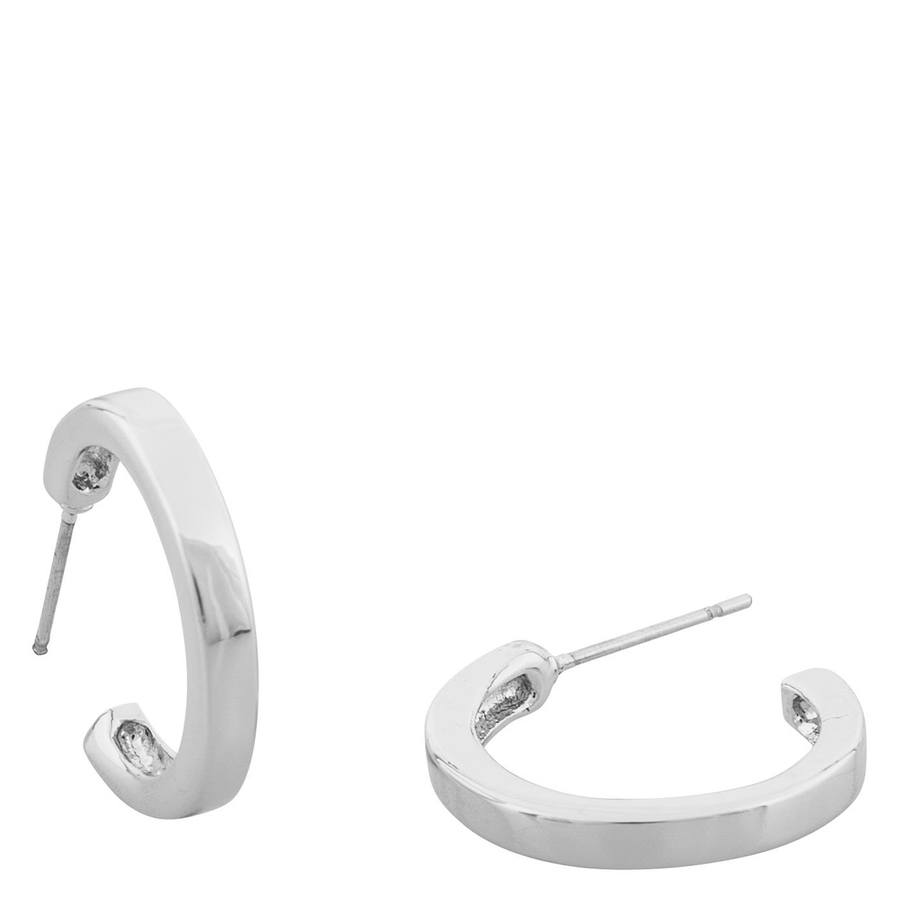 Snö Of Sweeden Vertical Oval Earring Plain Silver