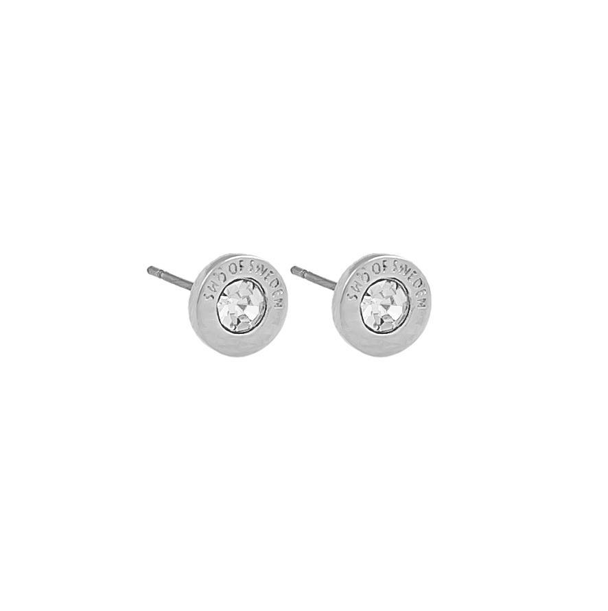 Snö Of Sweden Sence Small Coin Earring Silver/Clear