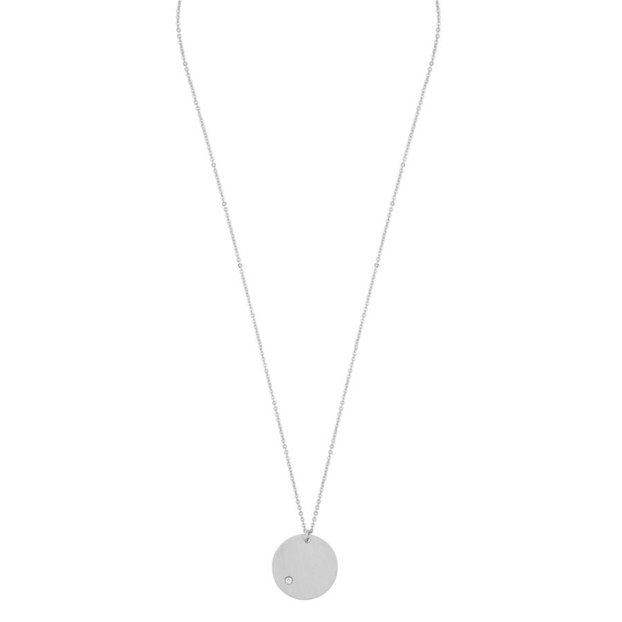Snö Of Sweden Elin Pendant Necklace Silver/Clear 42cm