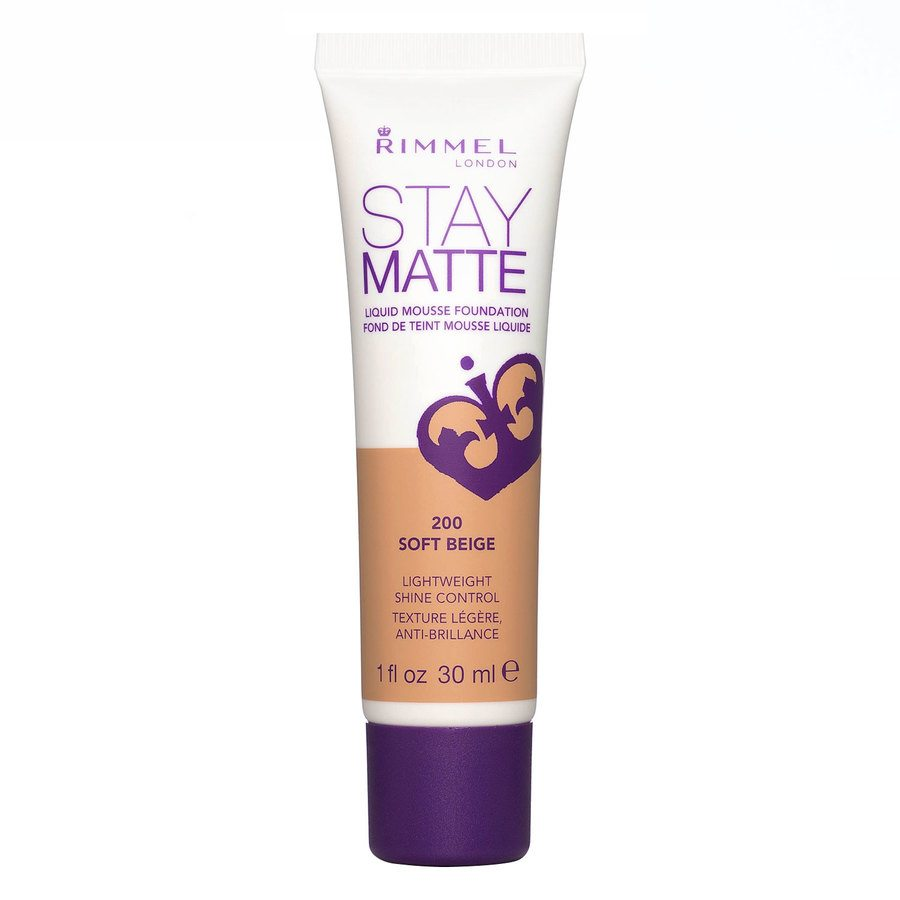 Rimmel Stay Matte Liquid Mousse Foundation Soft Beige 200 30 ml