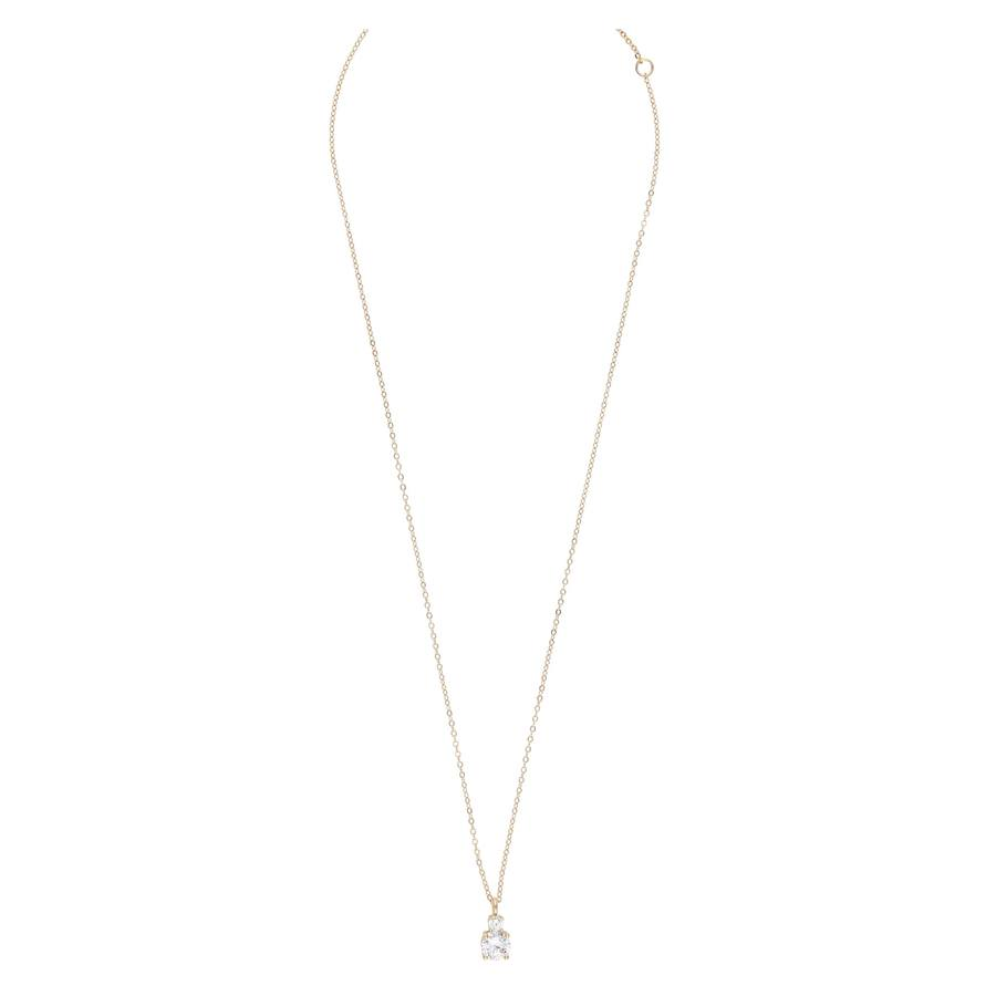Snö Of Sweden Duo Pendant Necklace 42 cm Gold/Clear