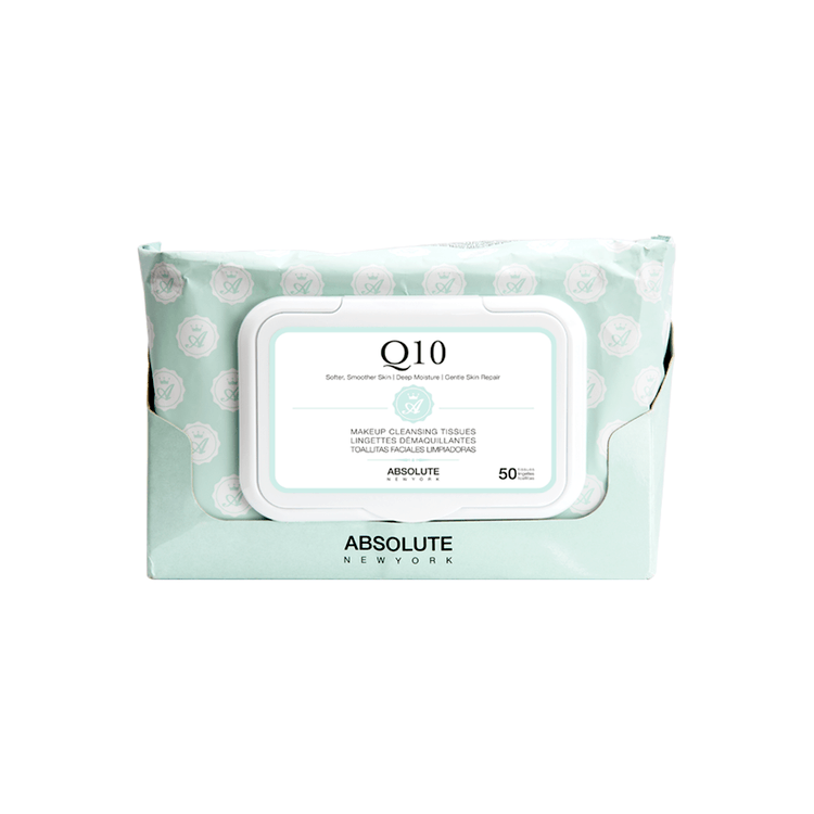 Absolute New York Makeup Cleansing Tissues Q10 50Stk