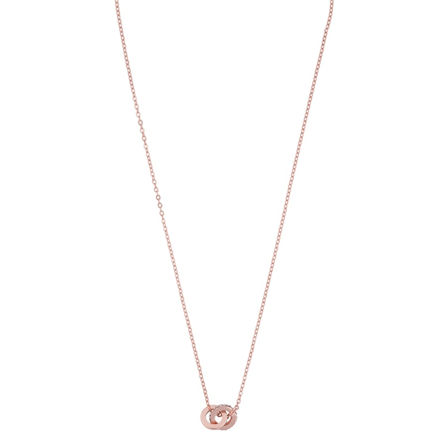 Snö Of Sweden Connected Pendant Necklace Rosé/Clear 42cm