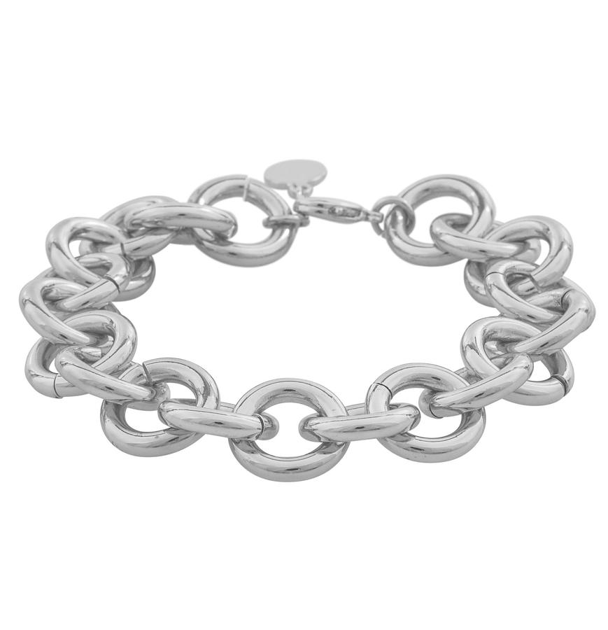 Snö Of Sweden Linked Chain Bracelet Silver