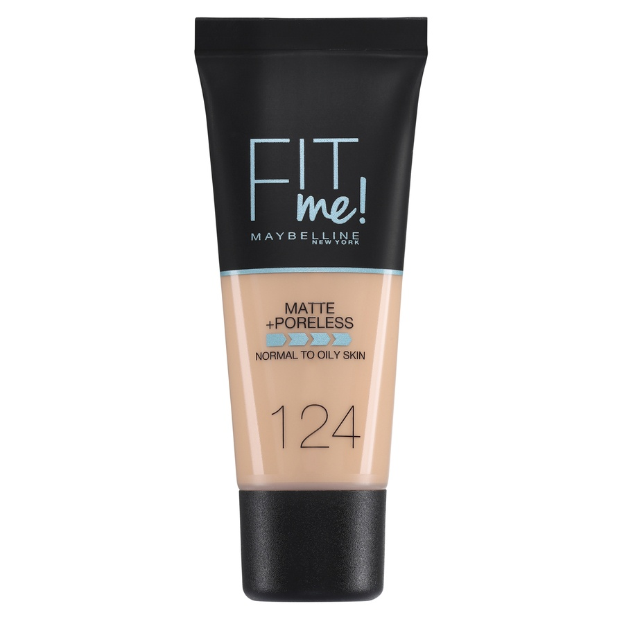 Maybelline Fit Me Makeup Matte + Poreless Foundation 124 30ml Tube
