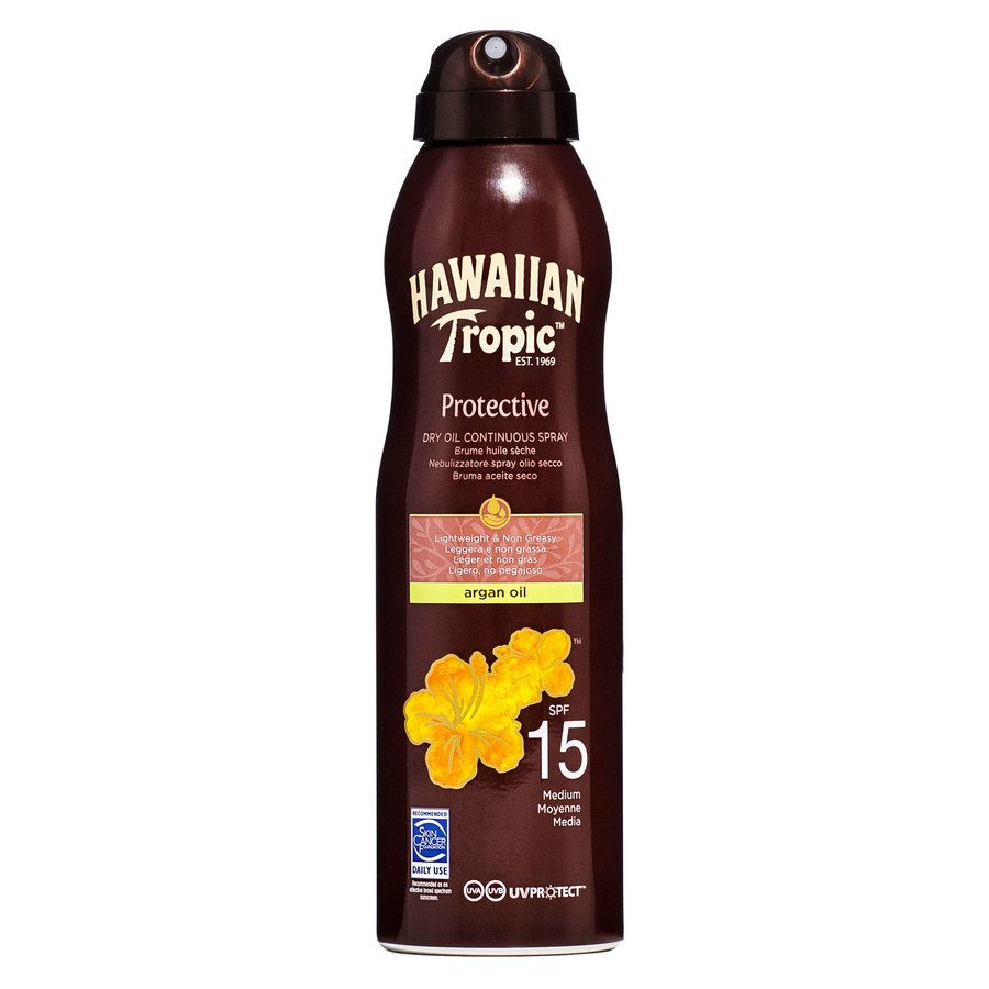 Hawaiian Tropic Protective Dry Oil Continuous Spray Spf 15 177ml