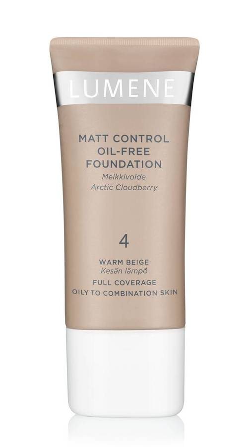 Lumene Mat Control Oil-Free Foundation 4 Warm Beige 30ml