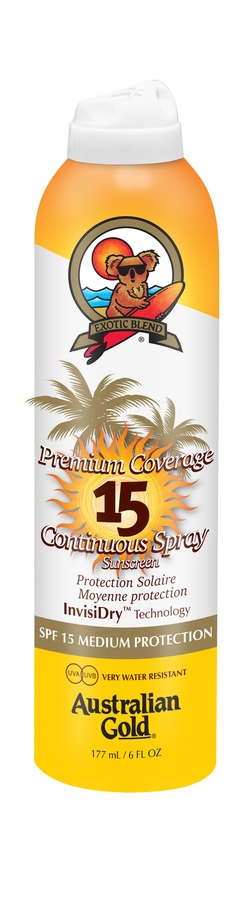 Australian Gold Premium Coverage Continuous Spray SPF 15 177ml