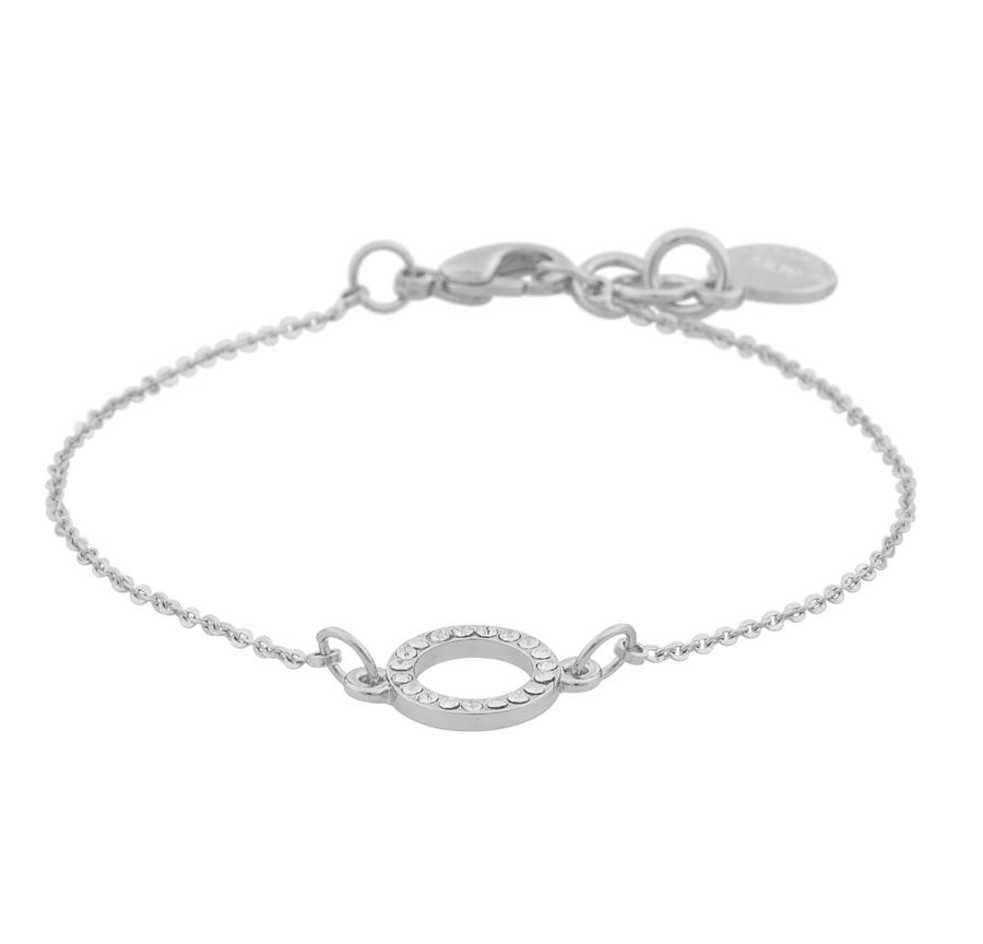 Snö Of Sweden Lily Chain Bracelet Silver/Clear