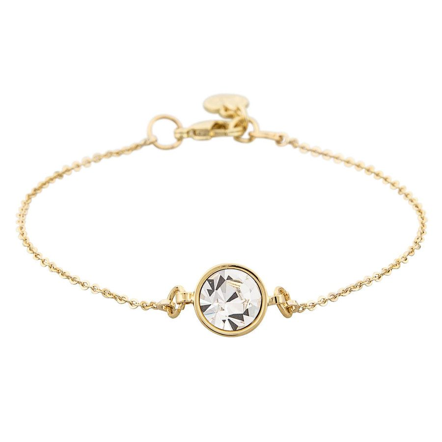 Snö of Sweden Caroline Chain Bracelet Gold/Clear