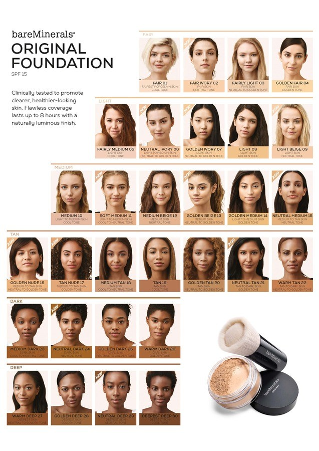 BareMinerals Original SPF 15 Foundation 8g Warm Tan