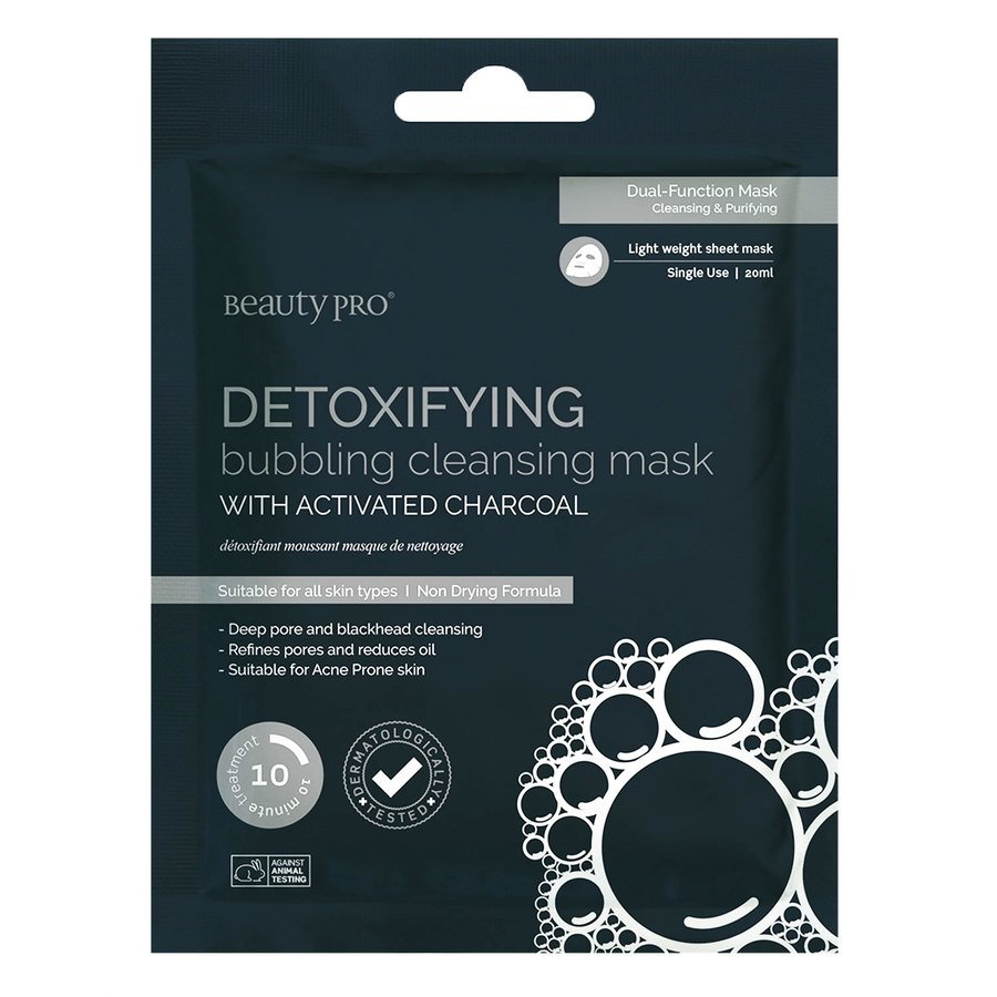 BeautyPro Detoxifying Bubbling Cleansing Mask With Activated Charcoal 18ml