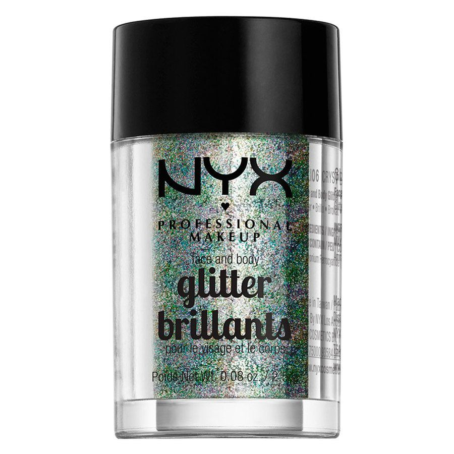 NYX Prof. Makeup Face And Body Glitter Brilliants Crystal GLI06 2,5g