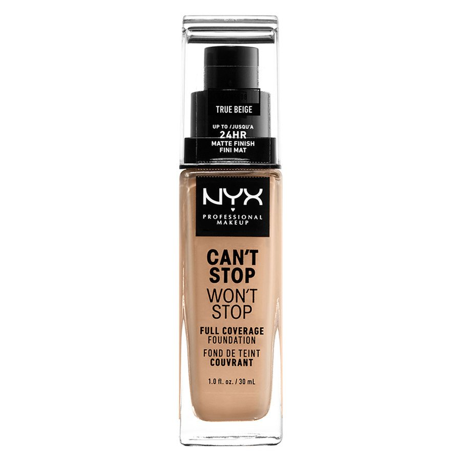 NYX Professional Makeup Can't Stop Won't Stop Full Coverage Foundation True Beige 30 ml