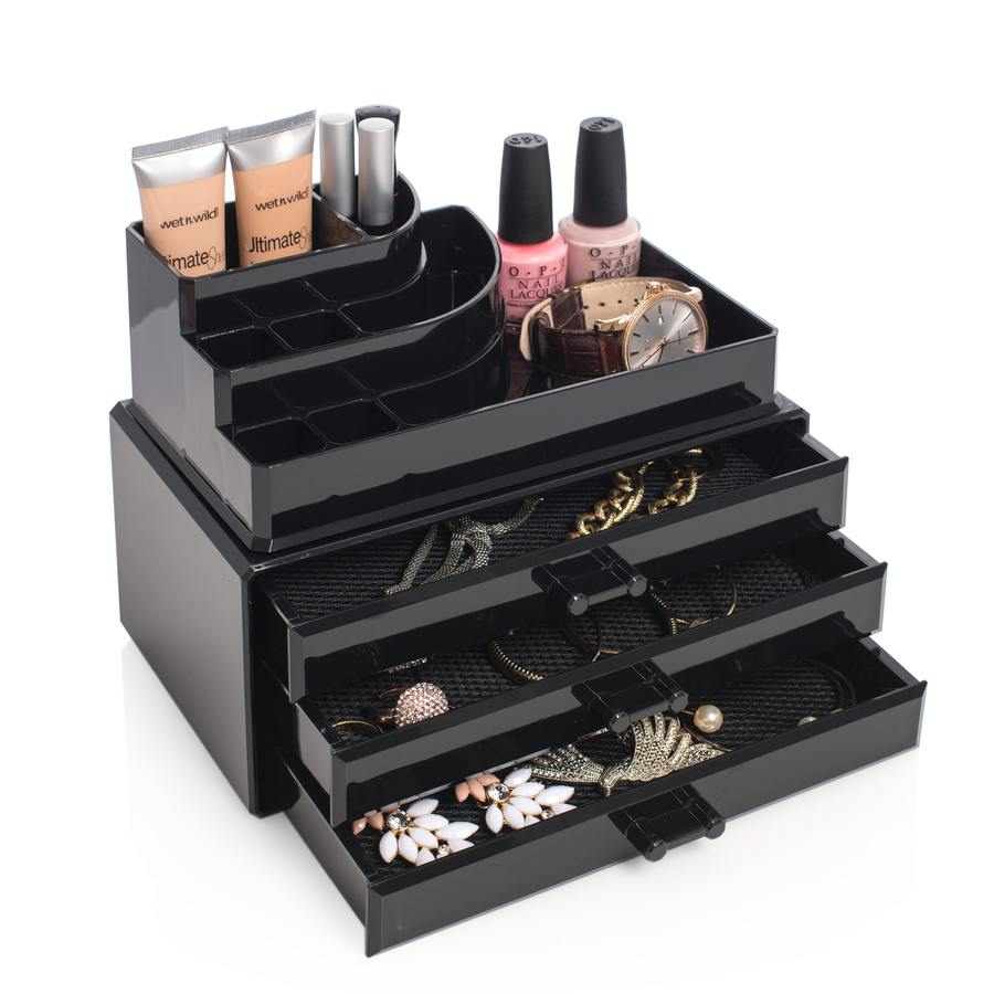 Cosmetic Organizer With 3 Drawers Sort
