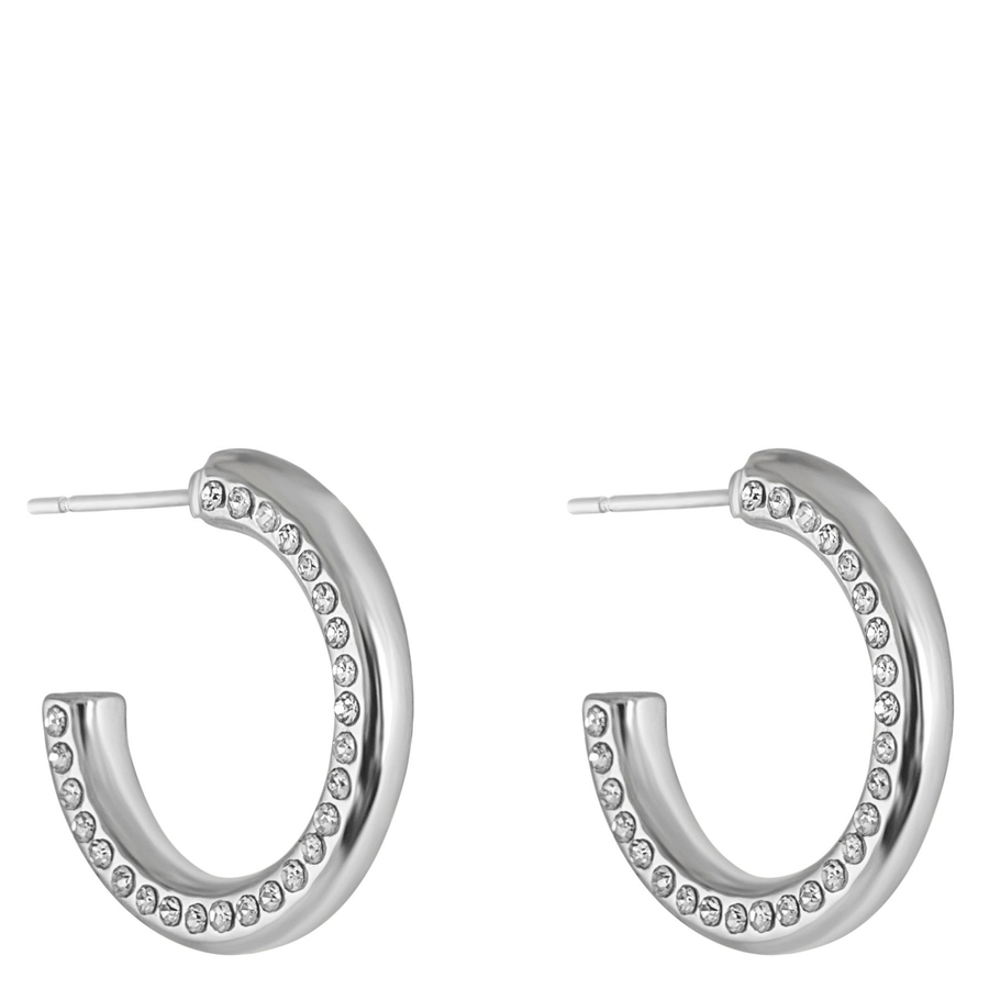 Snö of Sweden Adara Small Oval Earring Silver/Clear