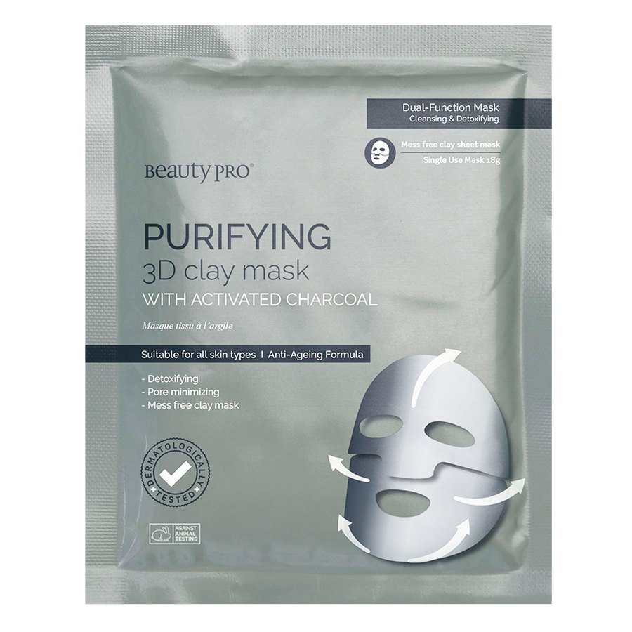 BeautyPro Purifying 3D Clay Sheet Mask 18g