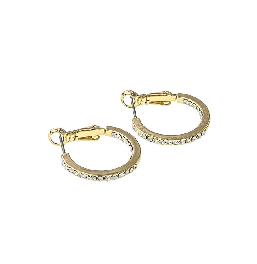 Snö Of Sweden Story Small Ring Earring Gold/Clear