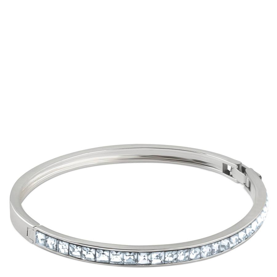 Snö of Sweden Trio Oval Bracelet Silver/Clear 60 mm