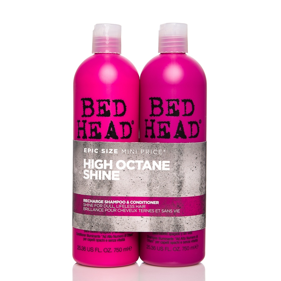 Tigi Bedhead Recharge High-Octane Shine Shampoo og Balsam 2x750ml (Duo)