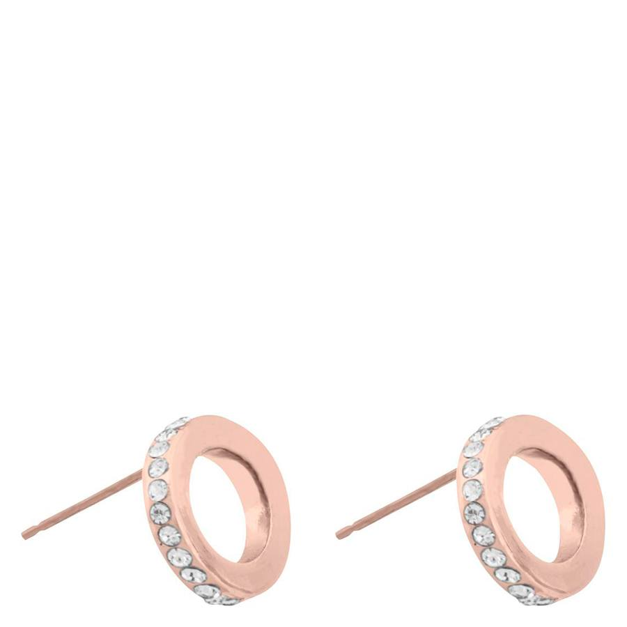 Snö Of Sweden Connected Earring Rosé/Clear