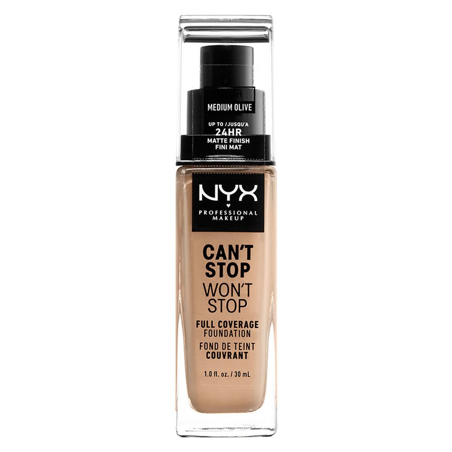NYX Professional Makeup Can't Stop Won't Stop Full Coverage Foundation Medium Olive 30 ml