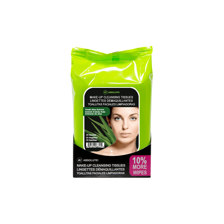 Absolute New York Make-Up Cleansing Tissues Fresh Aloe Extract 33stk
