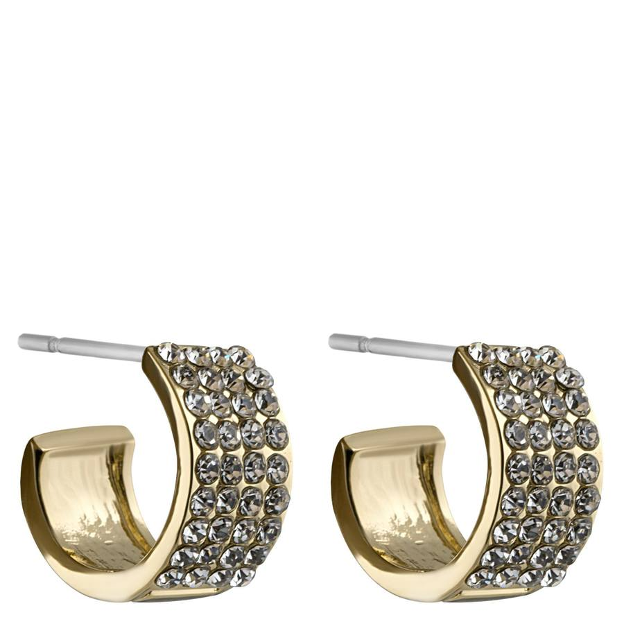 Snö of Sweden Carrie Small Earring Gold/Clear
