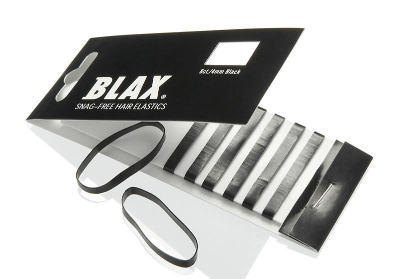 Blax Snag-Free Hair Elastics 4mm 8pcs Black