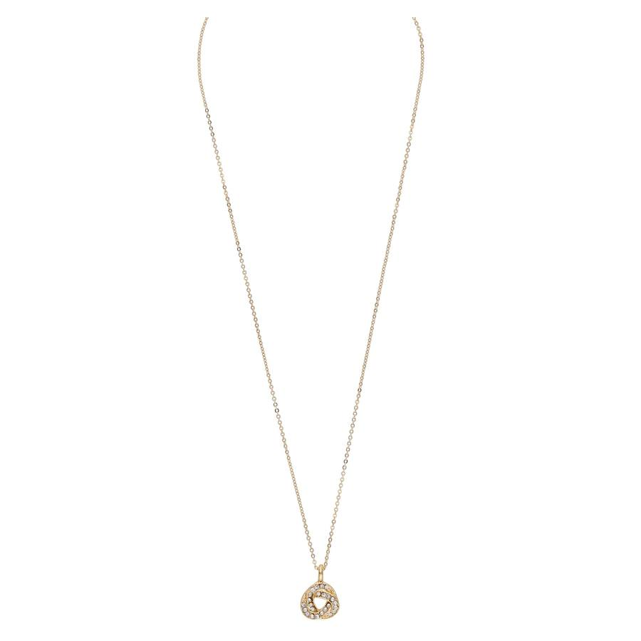 Snö Of Sweden Leonie Pendant Necklace 42cm Gold/Clear