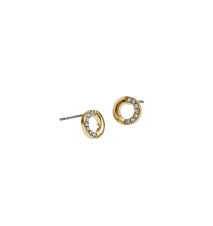 Snö Of Sweden Colline Small Earring Gold/Clear