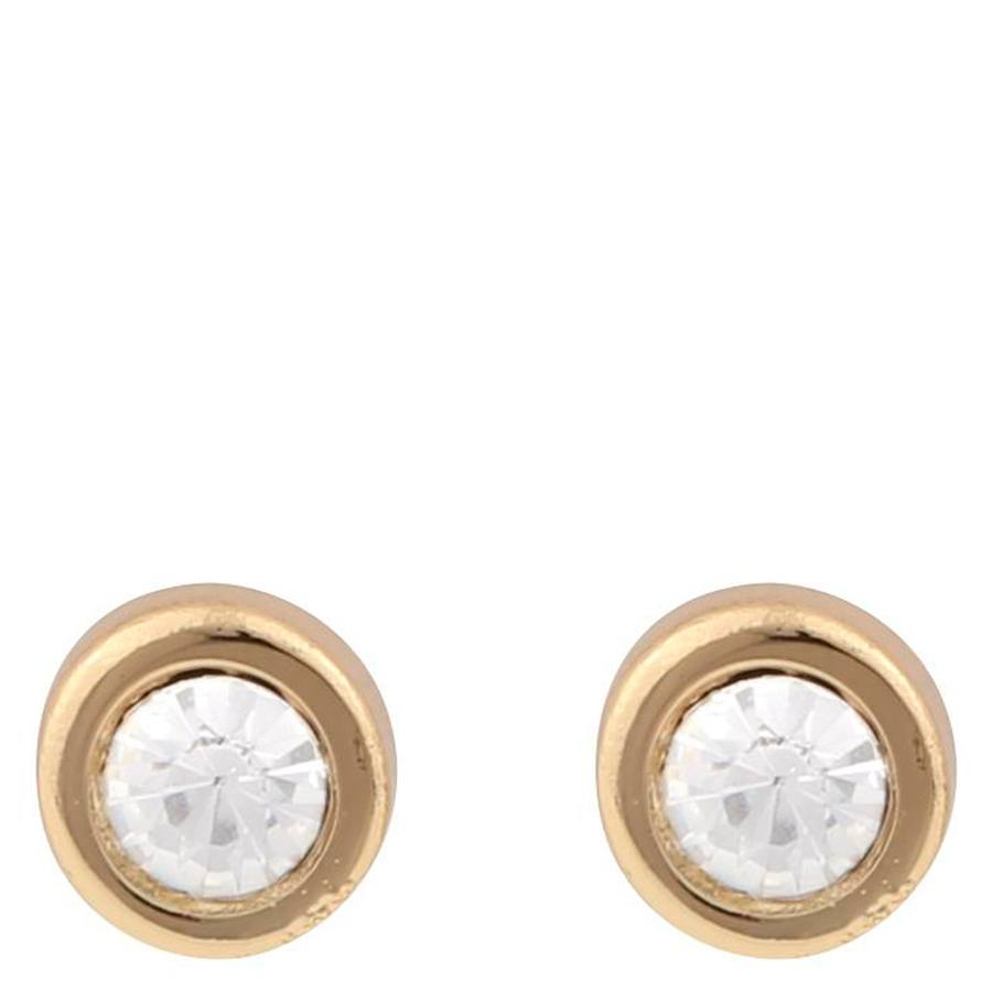 Snö Of Sweden Keira Small Stone Earring Gold/Clear