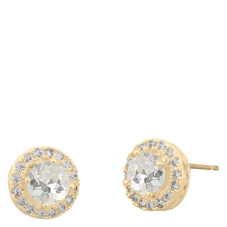 Snö Of Sweden Lissy Small Stone Earring Gold/Clear