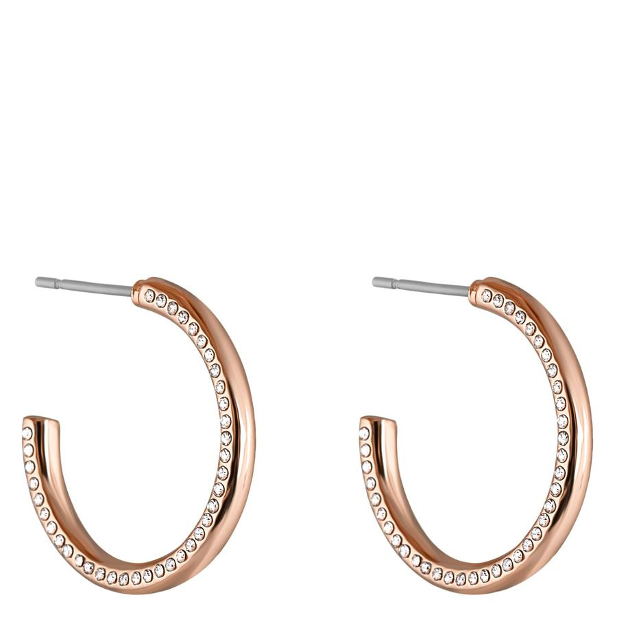 Snö of Sweden Adara Oval Earring Rosé/Clear
