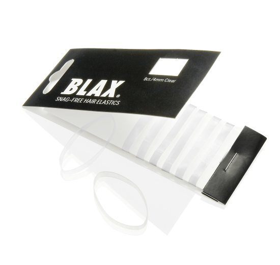 Blax Snag-Free Hair Elastics 4mm 8pcs Clear