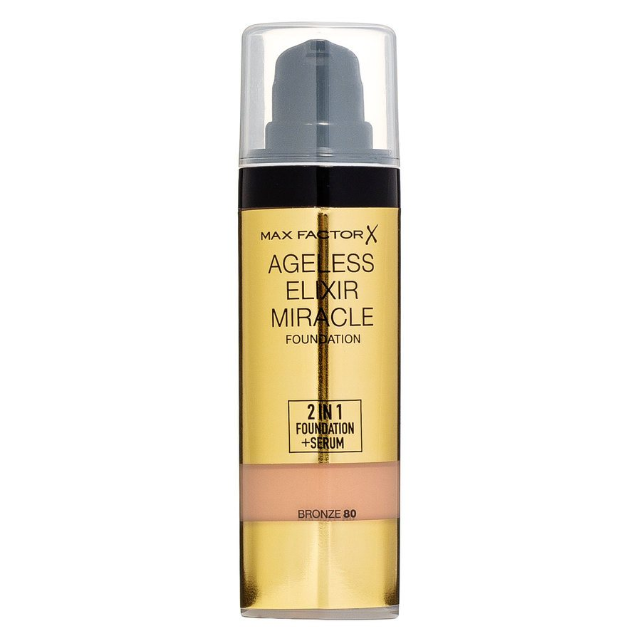 Max Factor Ageless Elixir 2-in-1 Foundation + Serum Bronze 080