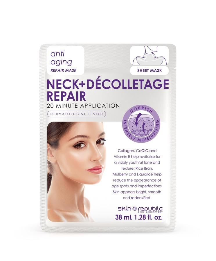 Skin Republic Neck+Dècolletage Repair Anti Ageing Repair Mask 38ml