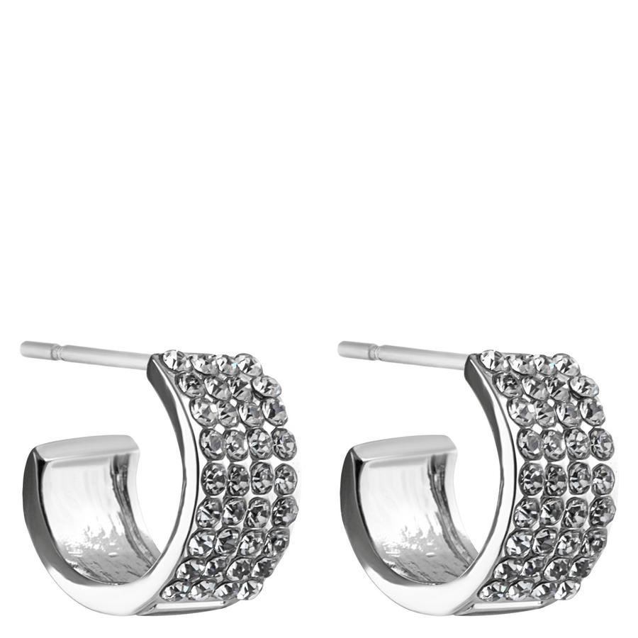 Snö of Sweden Carrie Small Earring Silver/Clear