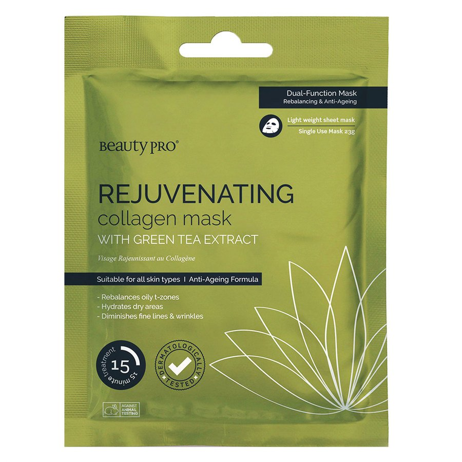 BeautyPro Rejuvenating Collagen Sheet Mask With Green Tea Extract 23g