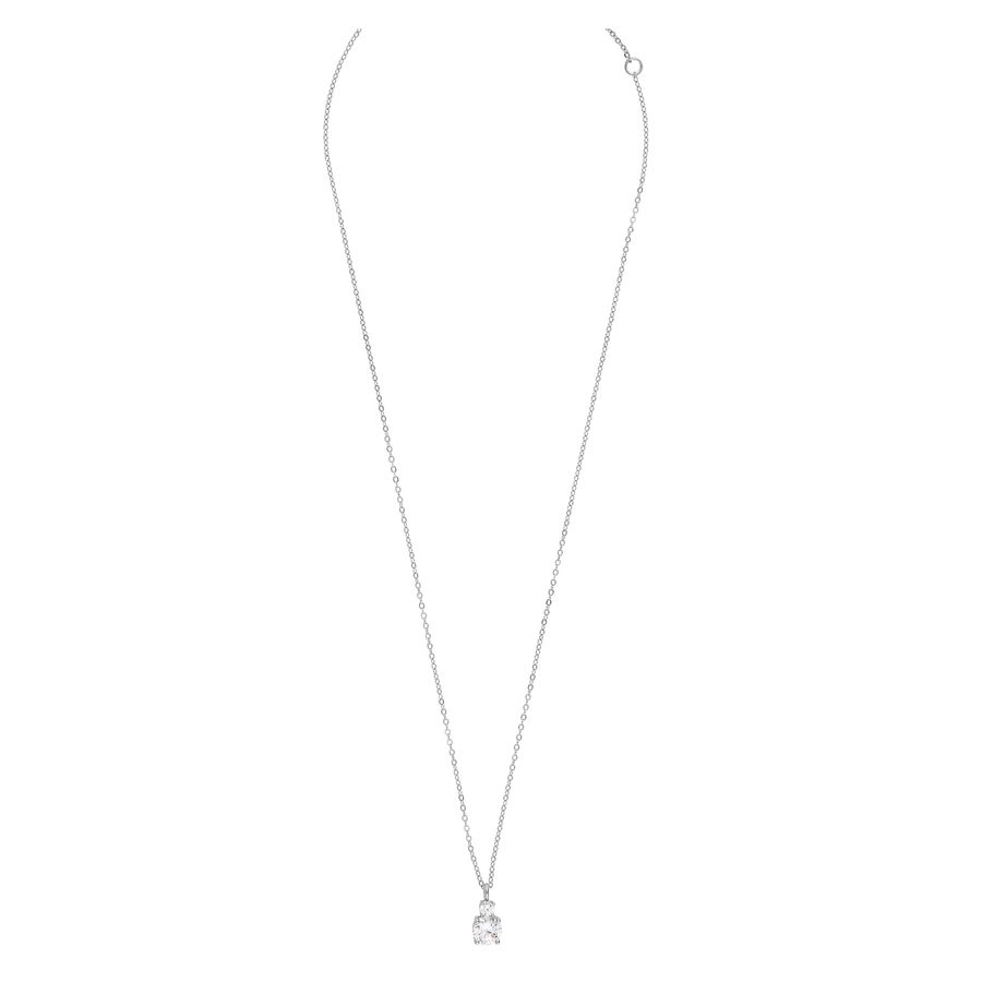 Snö Of Sweden Duo Pendant Necklace 42cm Silver/Clear