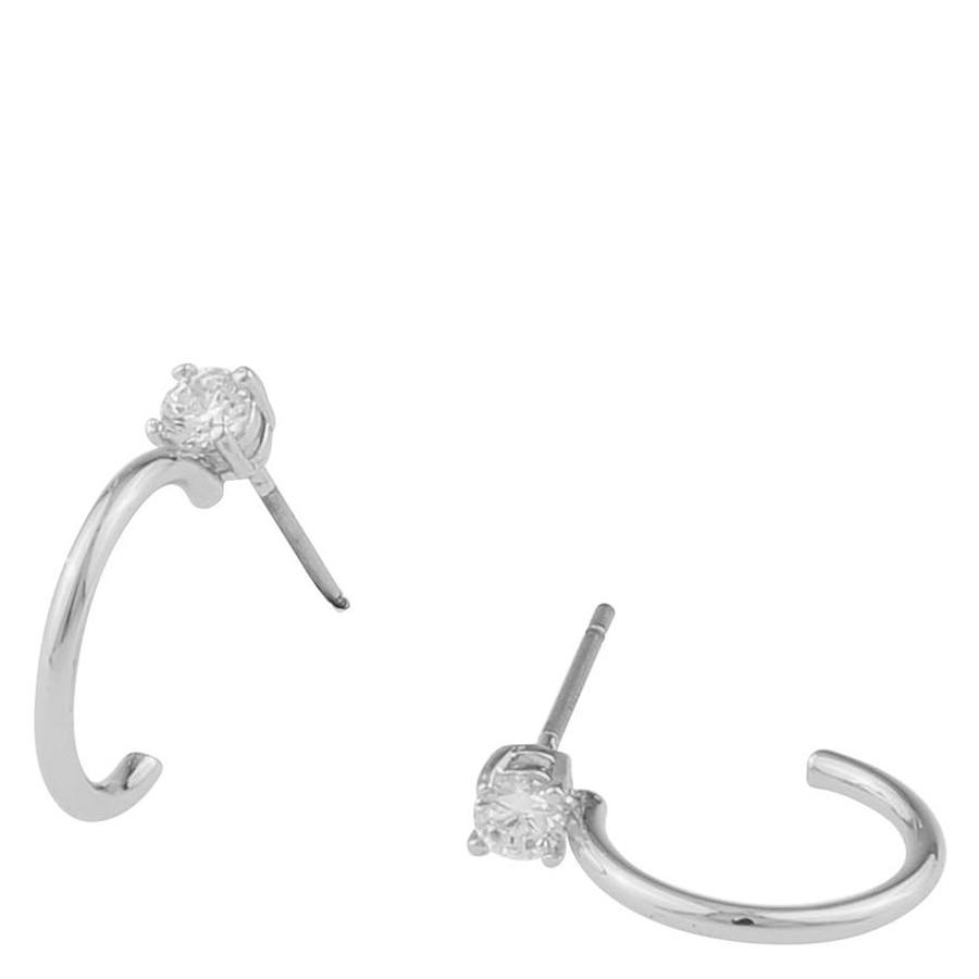 Snö Of Sweden Duo Small Ring Earring Silver/Clear
