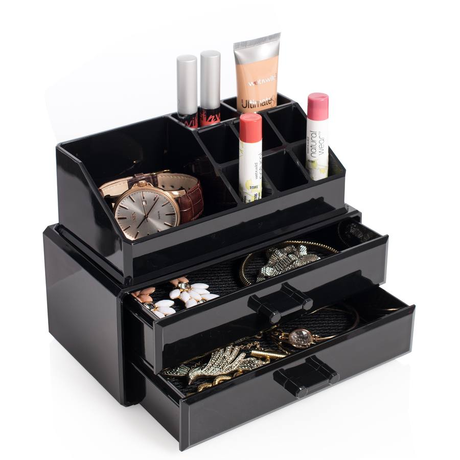 Cosmetic Organizer With 2 Drawers sort