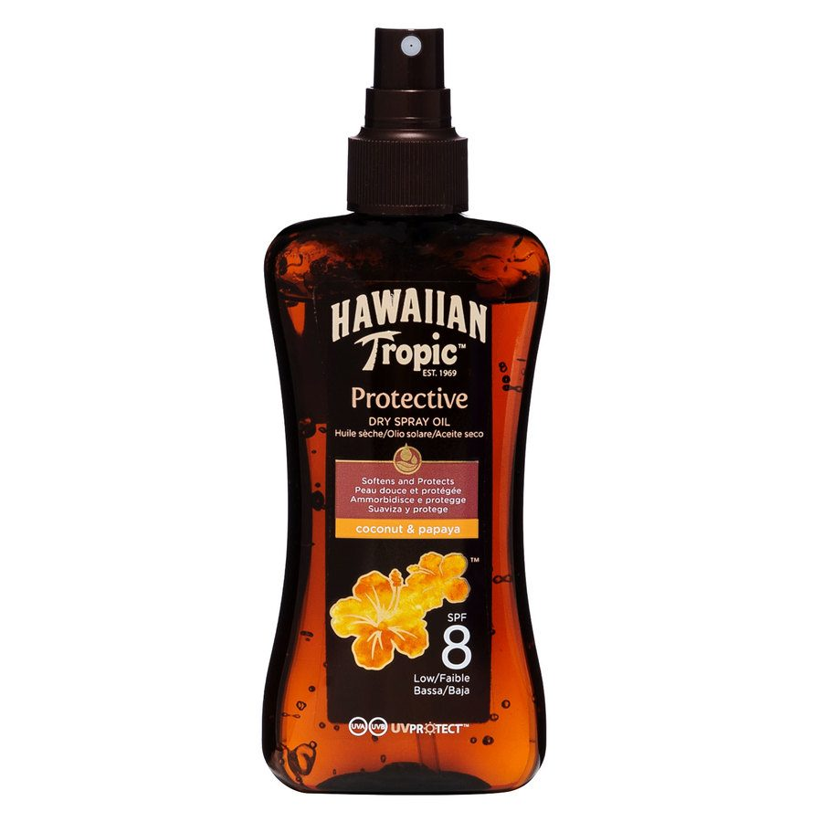 Hawaiian Tropic Protective Dry Spray Oil  SF8 200 ml