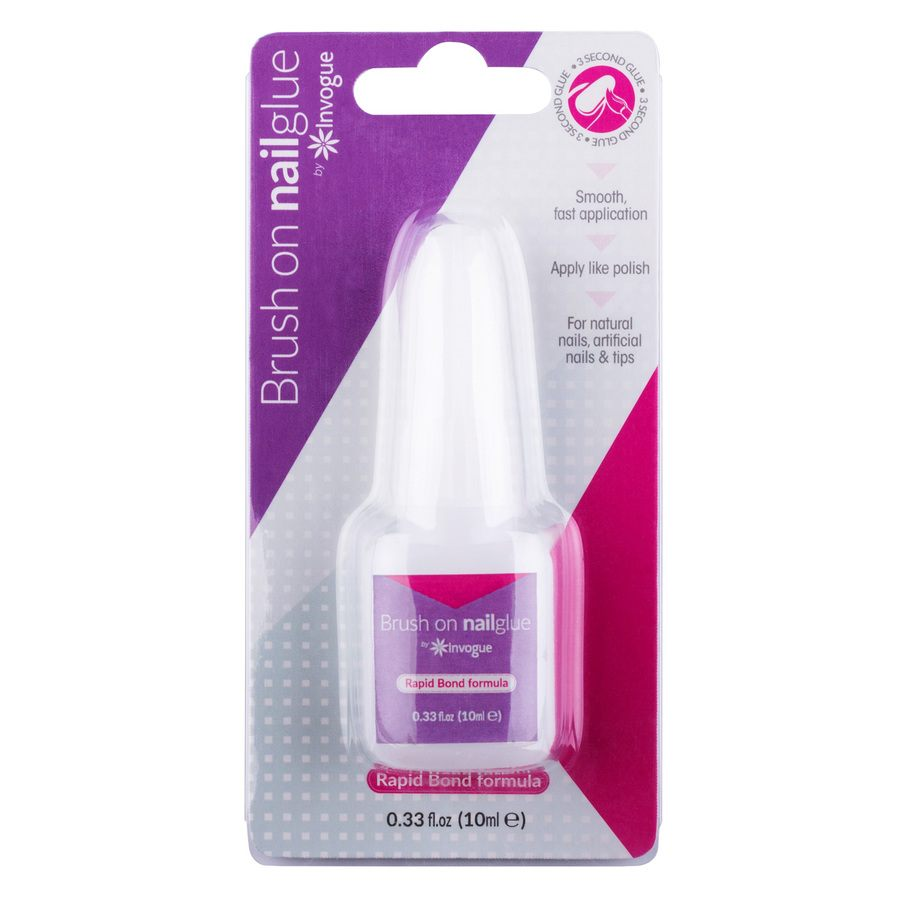 Invogue Brush on Nail Glue 10ml